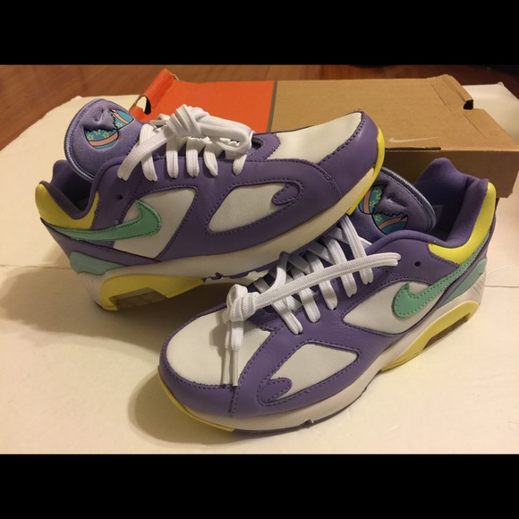 ??DEADSTOCK Nike Air Max 180 Easter Egg 6.5M 8W NWT